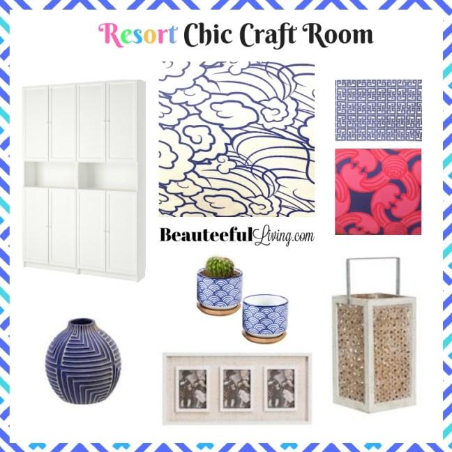 Resort Chic Craft Room