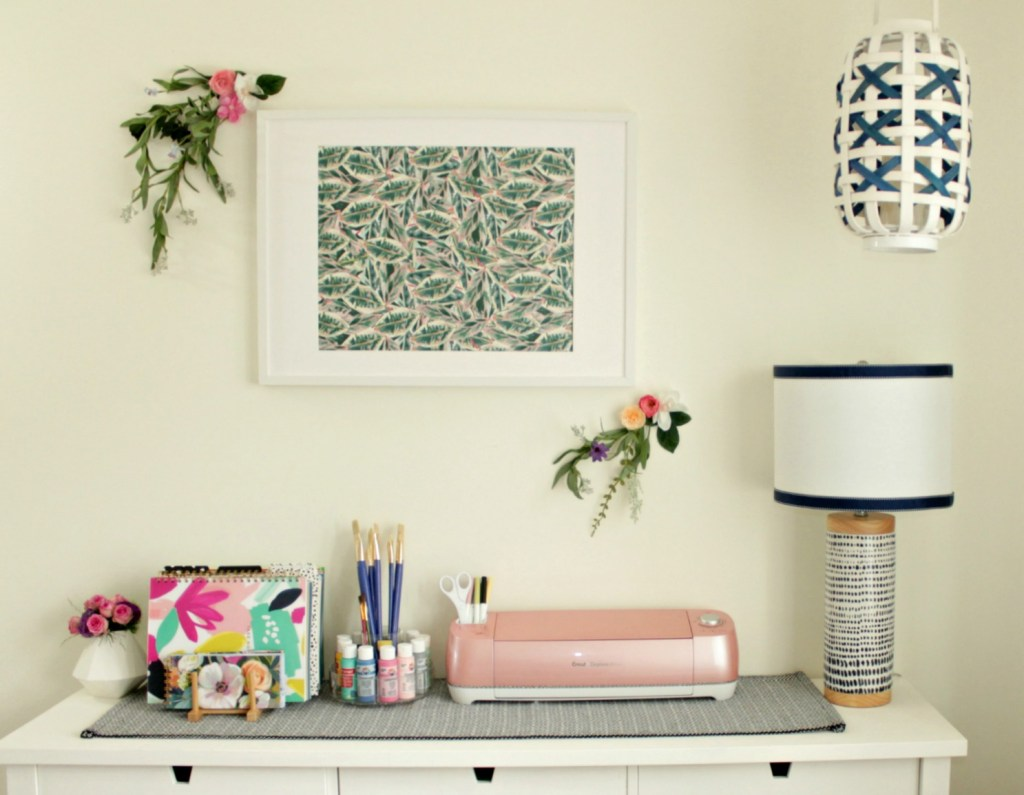 Craft Room Makeover Tropical Decor - Beauteeful Living
