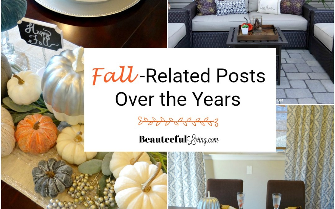 Fall Related Posts Over the Years