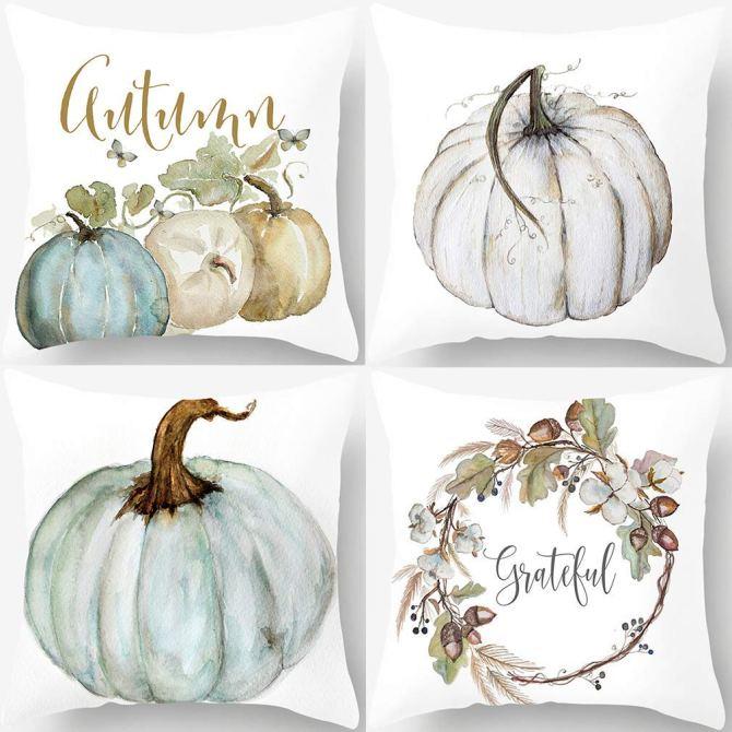 Autumn Pumpkin Throw Pillow