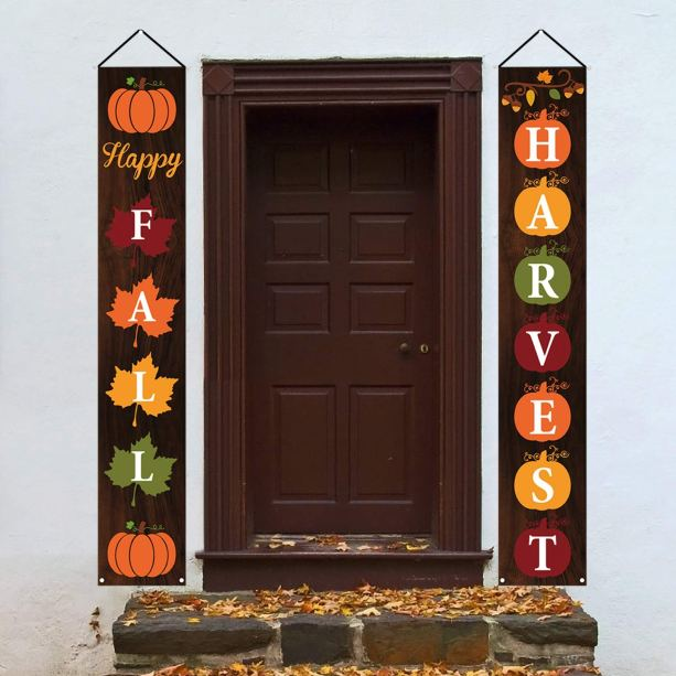 Happy Fall Hanging Banner