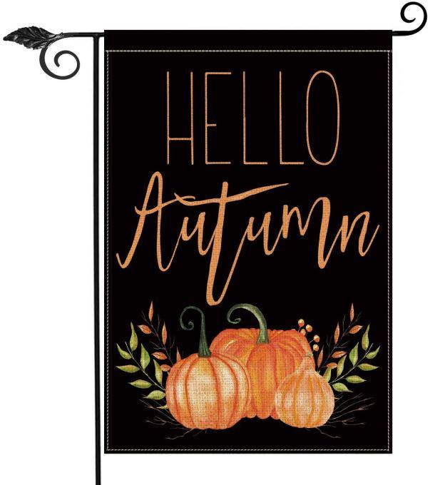 Hello Autumn Garden Flag