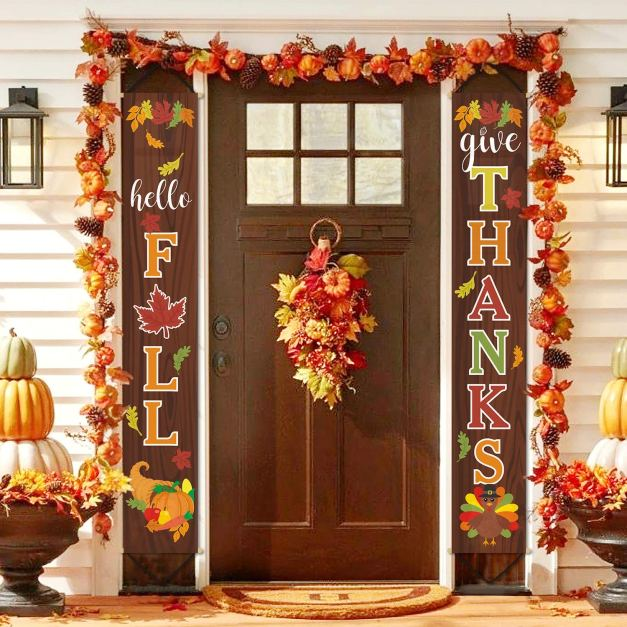 Hello Fall Hanging Banner