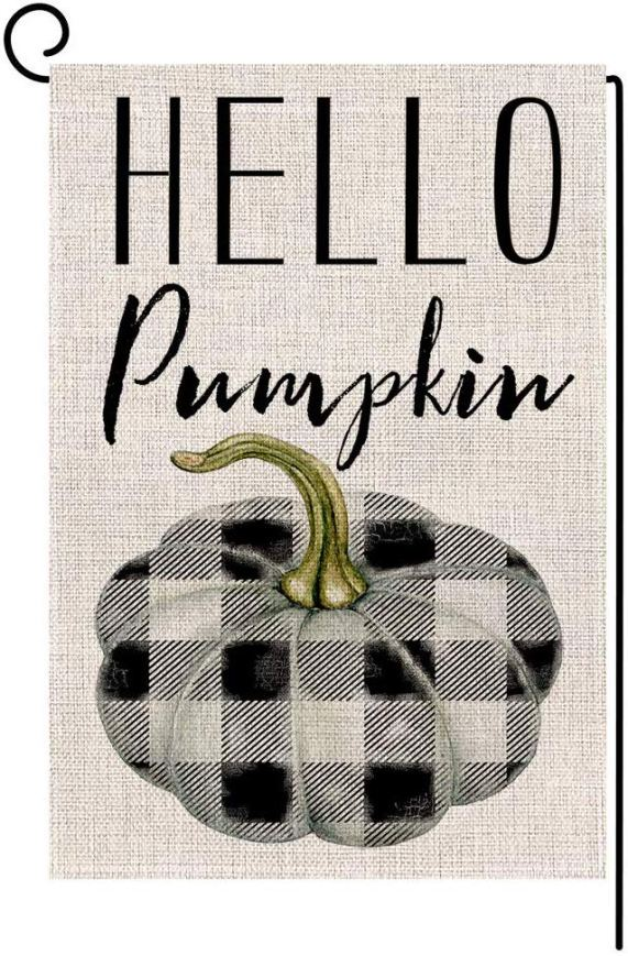 Hello Pumpkin Garden Flag