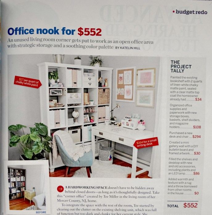 Office Nook TOH magazine feature - Beauteeful Living