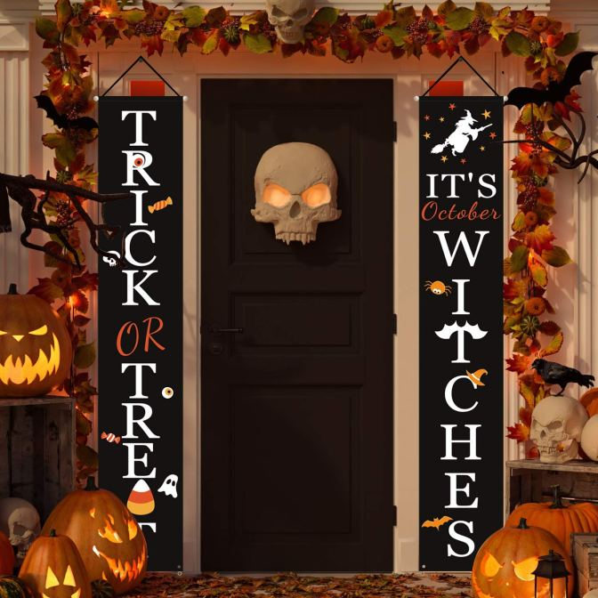 Trick or Treat Hanging Banner