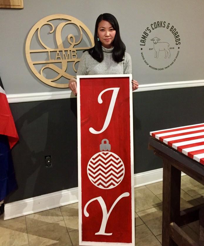 Tee with Joy sign