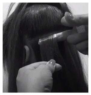 tuto extensions cheveux : etape 4