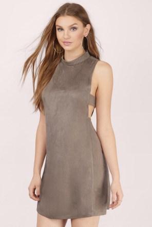 Tobi Suede Dress