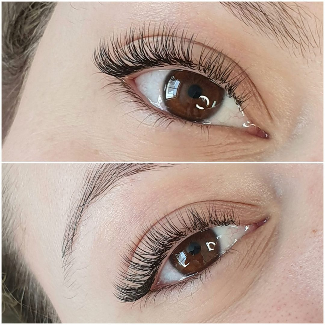 stunning lash set to compliment pretty brown eyes