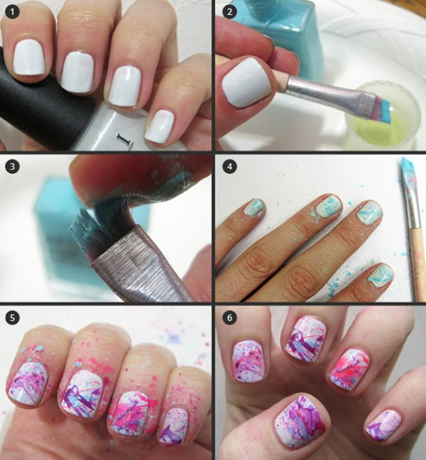 Easy Nail Designs Black And White Thin Striped Nails