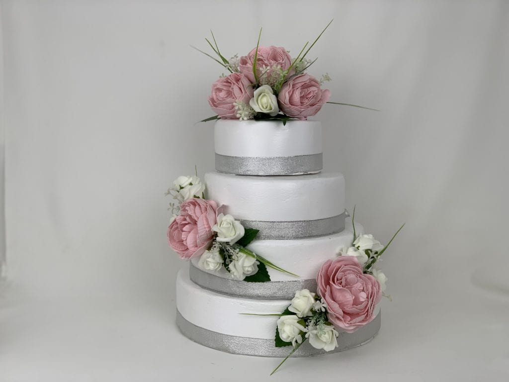 Artificial Wedding Cake Topper Peonies 3 Pieces