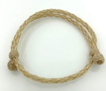 The 8 strand bracelet in white.