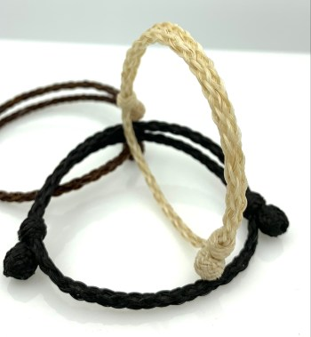 A different angle of the 8 strand bracelet.