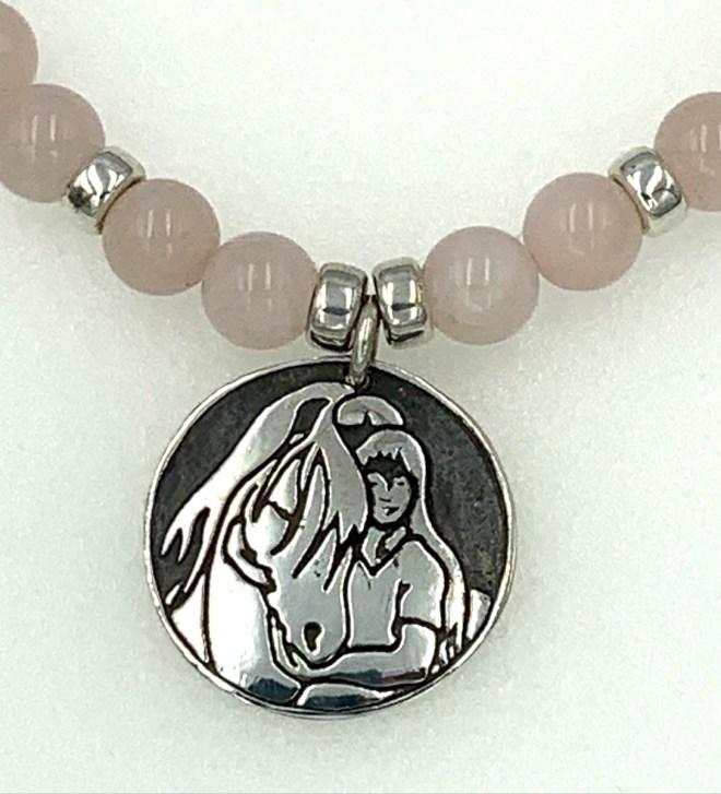 Rose Quartz and Quiet Time Necklace Image