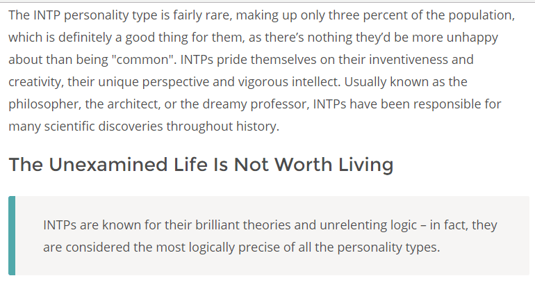 INTP personality type