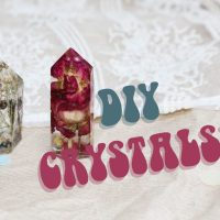 DIY: How To Make Resin Crystals (With Dried Flowers In Them!)