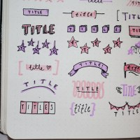 50 Easy & Cute Title Ideas For Your Bullet Journal (No Hand Lettering!)