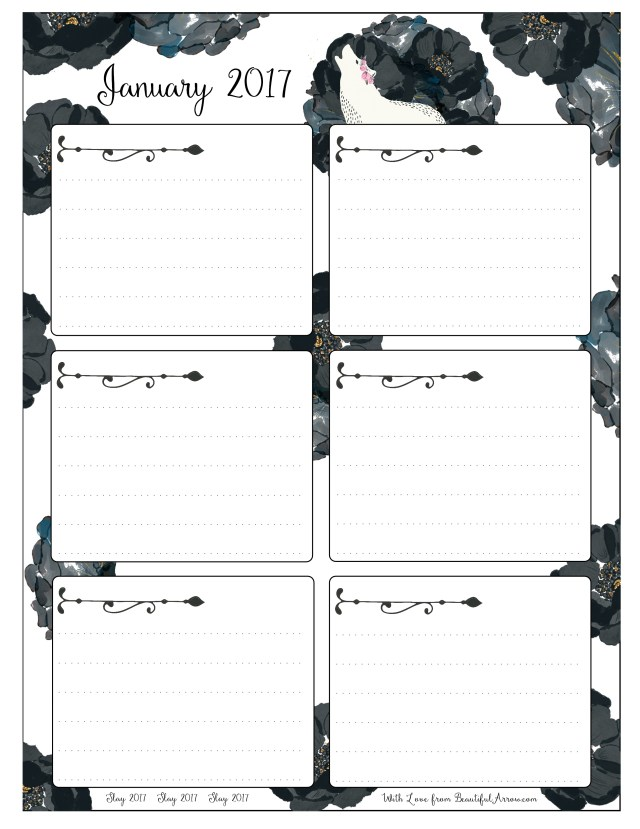 Free Download - White Wolf and Black Roses Goal Setting Worksheets