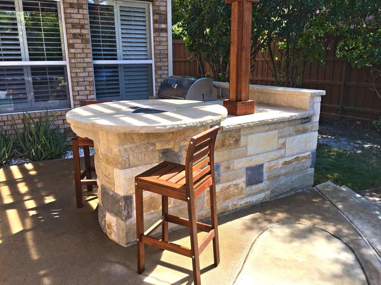 pool side backyard bar grill in allen