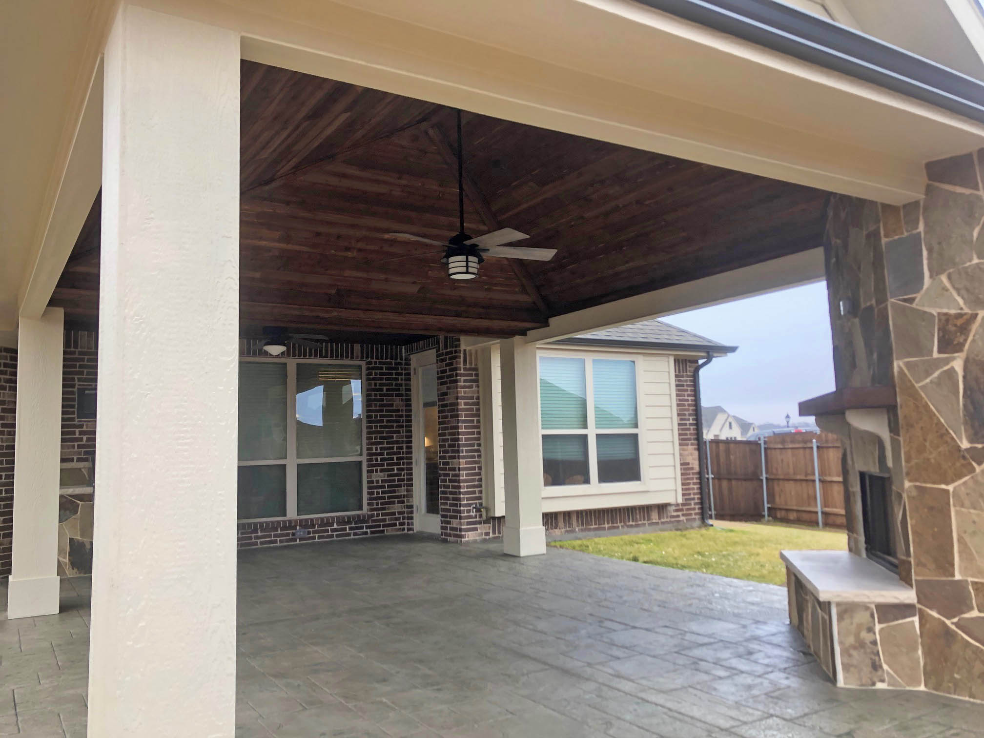 outdoor fireplace patio cover grill