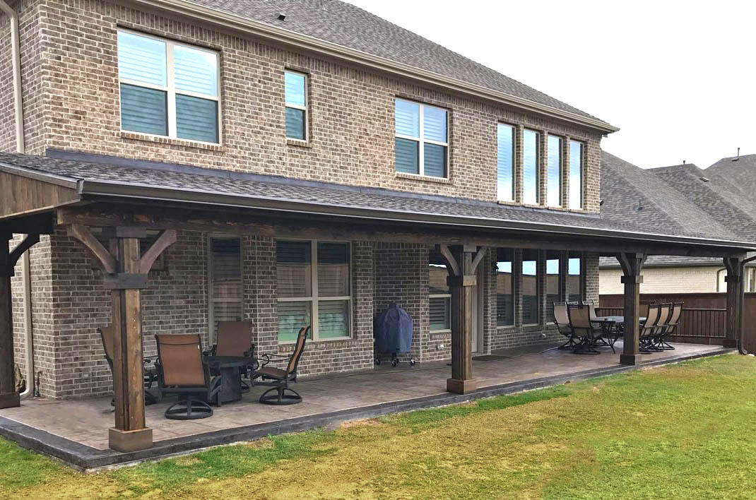 shed style patio cover in frisco