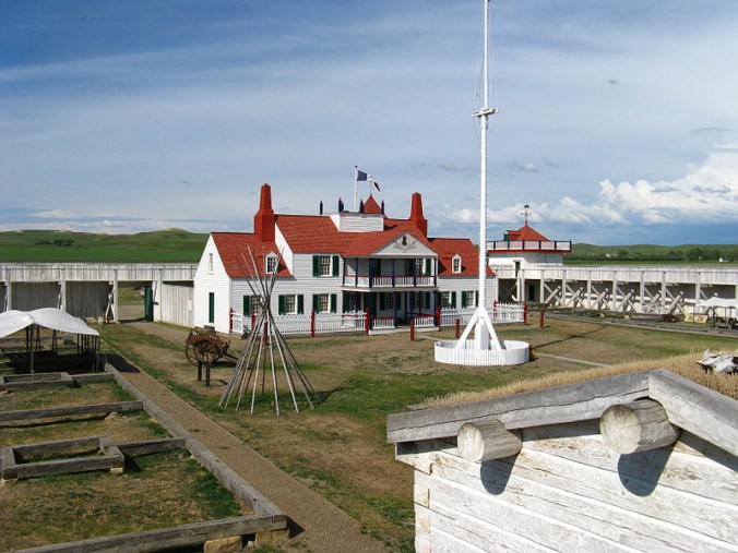 Fort Union Trading post -- an authentic reproduction. Photo courtesy of Wikimedia Commons