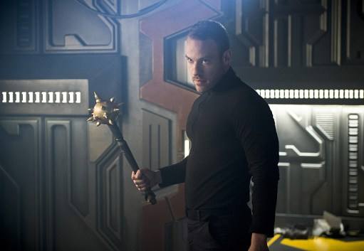 "DC's Legends of Tomorrow --""River of Time""-- Image LGN114b_0086b.jpg -- Pictured: Falk Hentschel as Carter Hall/Hawkman -- Photo: Diyah Pera/The CW -- © 2016 The CW Network, LLC. All Rights Reserved."