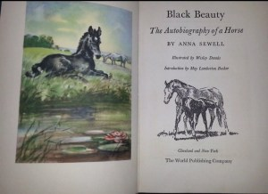 Junior Deluxe Editions World Publishing Company Young America Classics Black Beauty Title Page