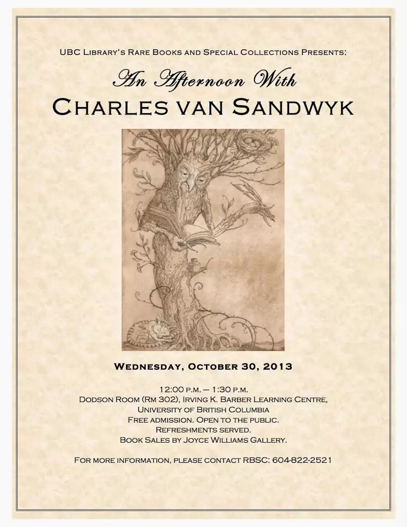 2013 An Afternoon with Charles van Sandwyk poster