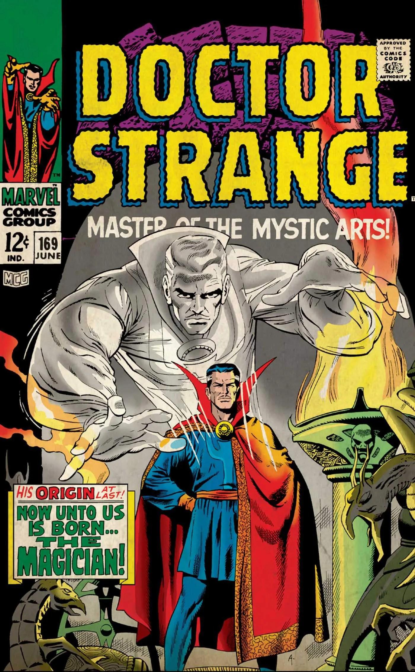 marvel comics postcards dr strange