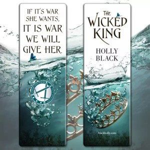 wicked king bookmarks