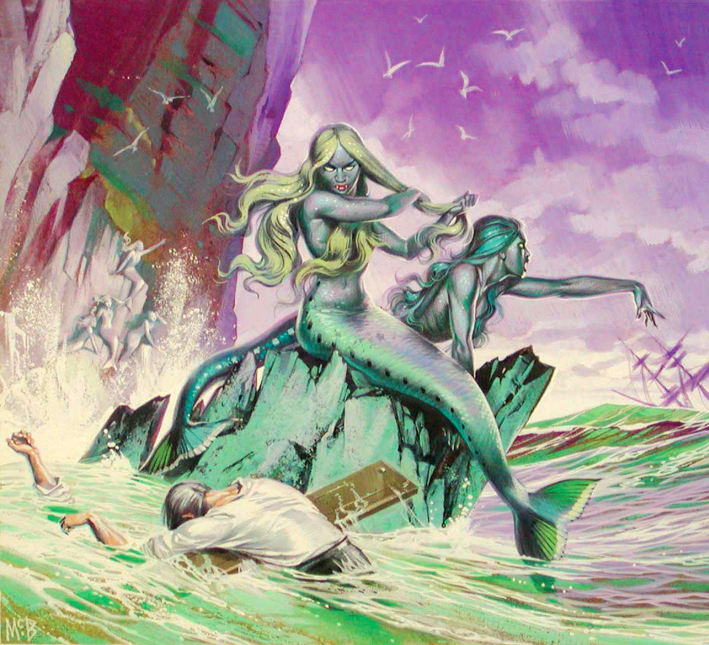 Angus McBride Beasts Mermaids illus