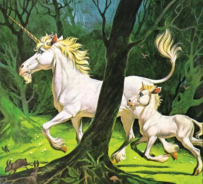 Angus McBride Beasts Unicorns illus