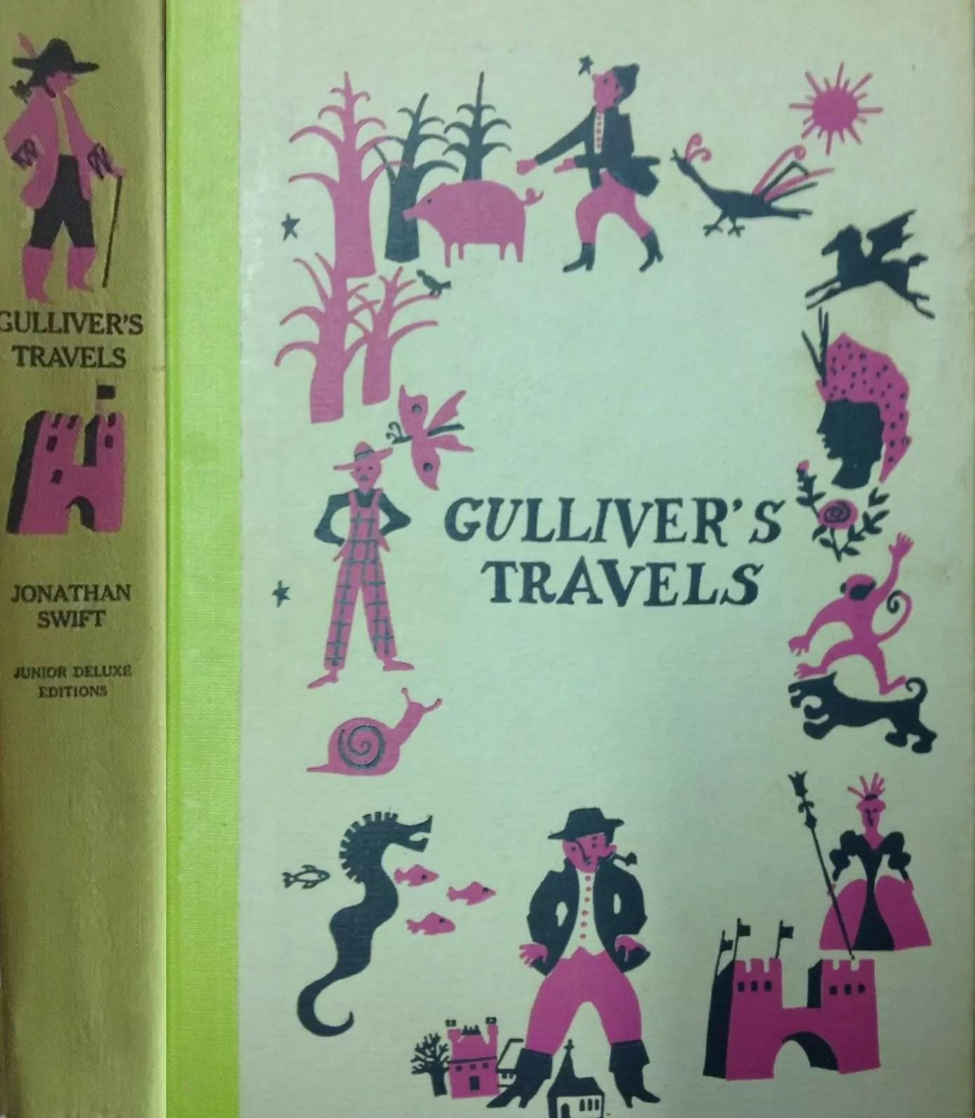 JDE Gullivers Travels FULL old green cover