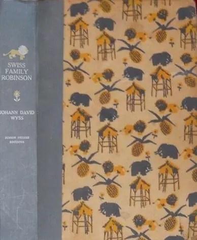 JDE Swiss Family Robinson FULL old patterned cover