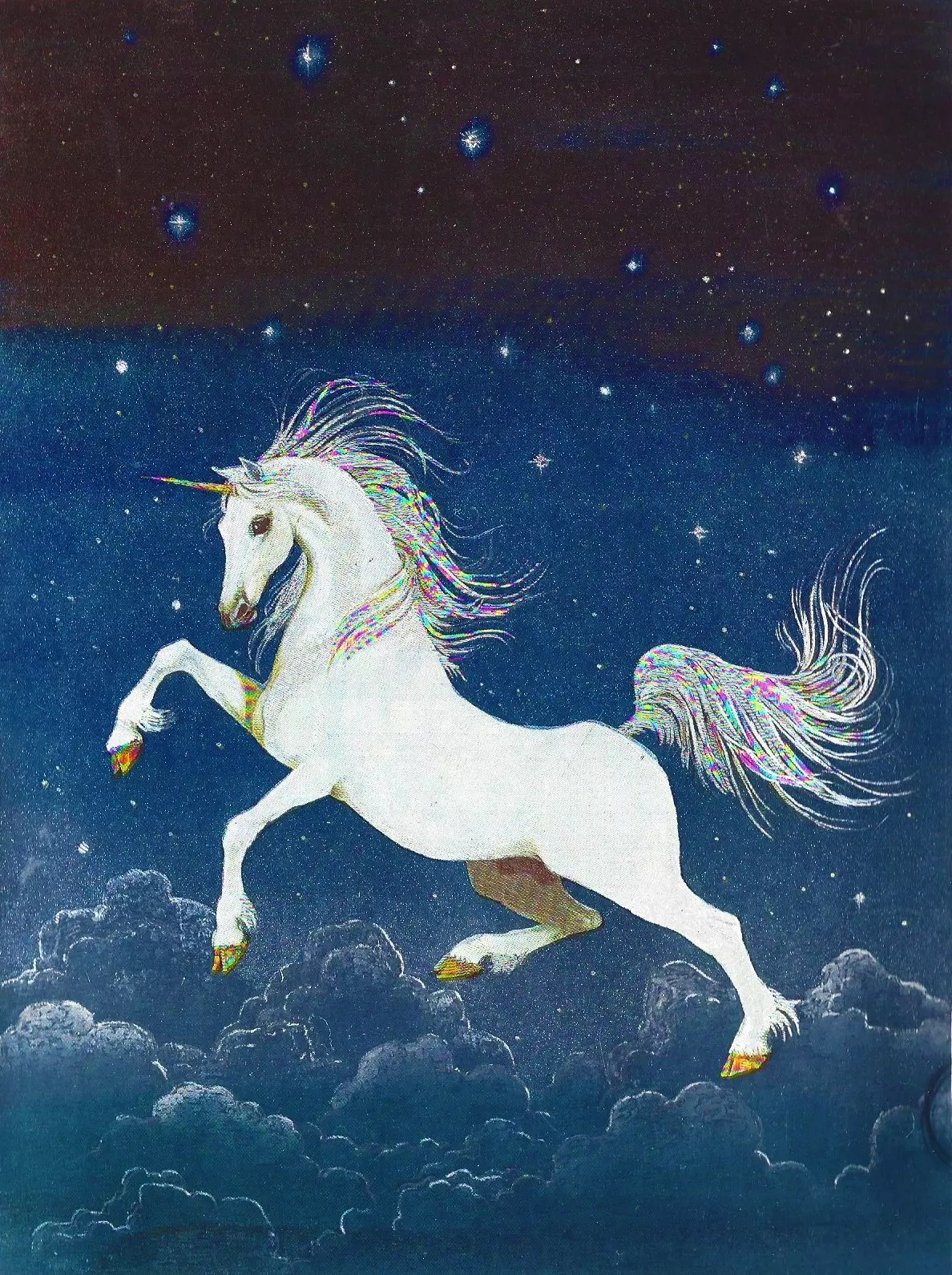 The Unicorn - print by the Grahame Johnstone sisters