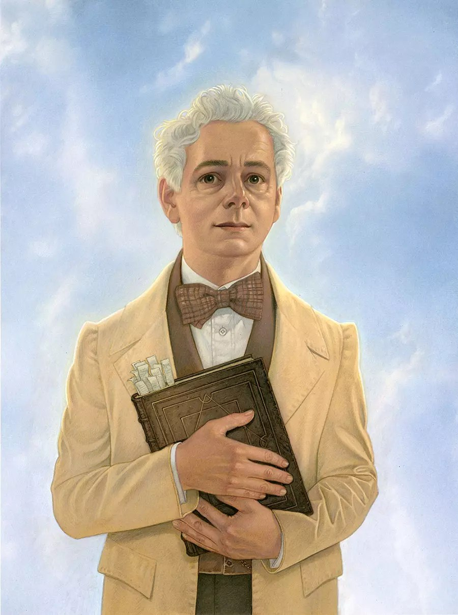 Illustrated Good Omens Aziraphale