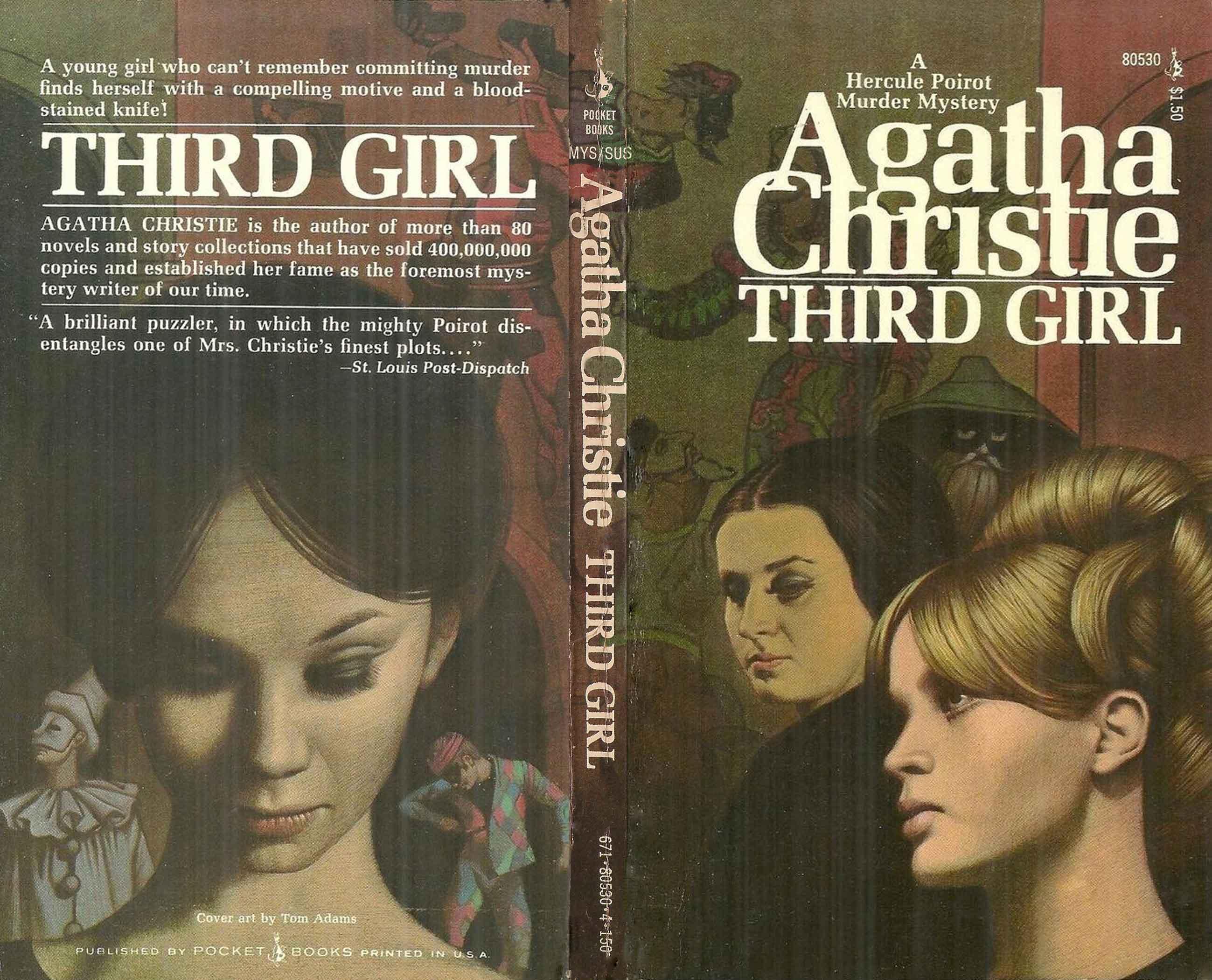 Agatha Christie Tom Adams Third Girl Pocket Books sm
