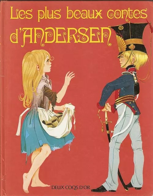 GJT French Les plus beaux contes dandersen 1980 gift book of hans andersen fairy tales