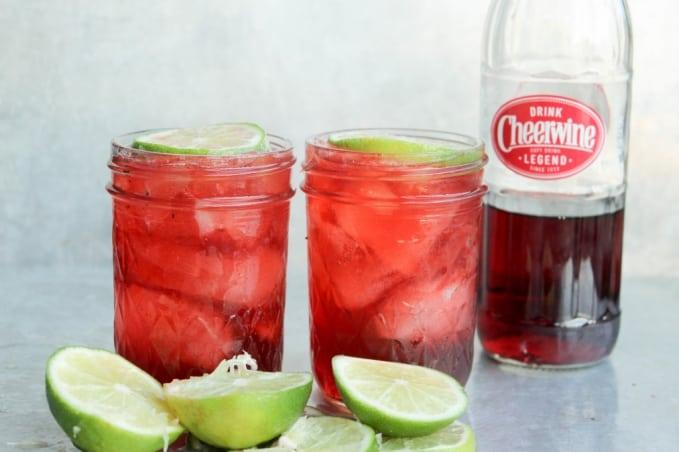, Cheerwine Bourbon Cocktail