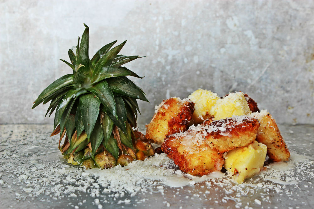 , Fried Piña Colada Shots