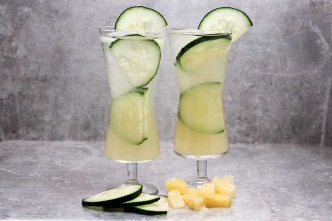 , Pineapple and Cucumber Gin and Tonic
