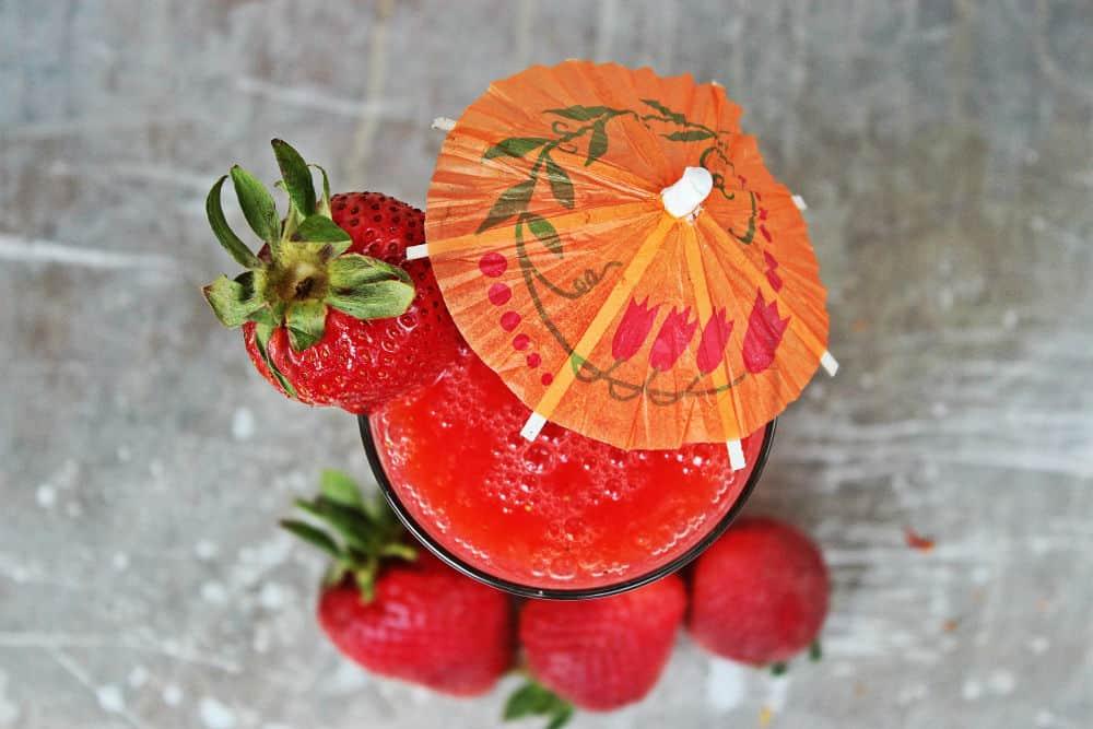 , Salted Strawberry Grapefruit Daiquiri