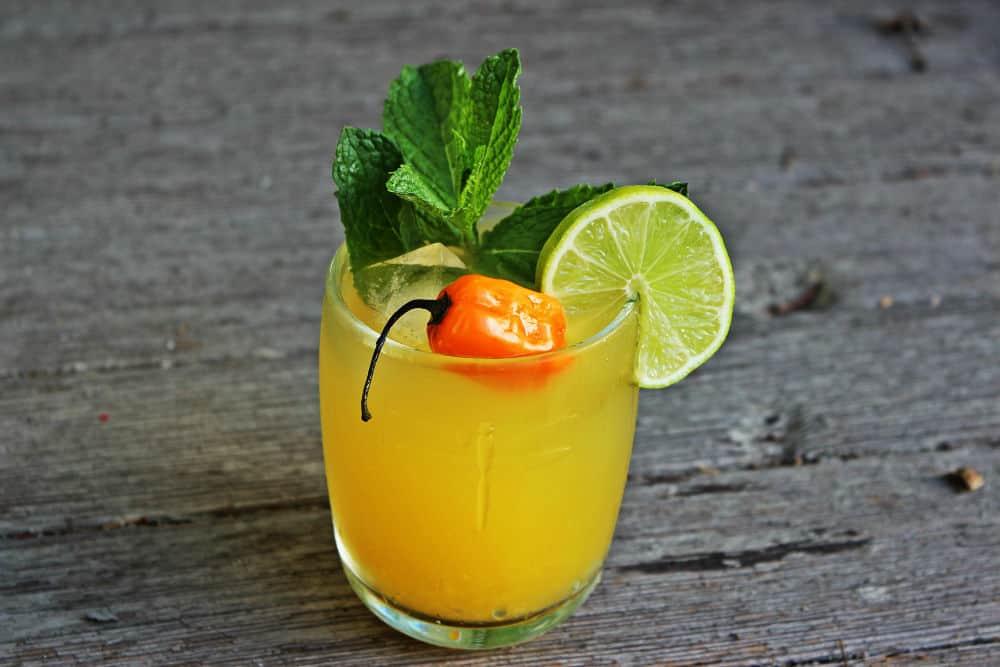 , Spicy Rum Mango Cooler