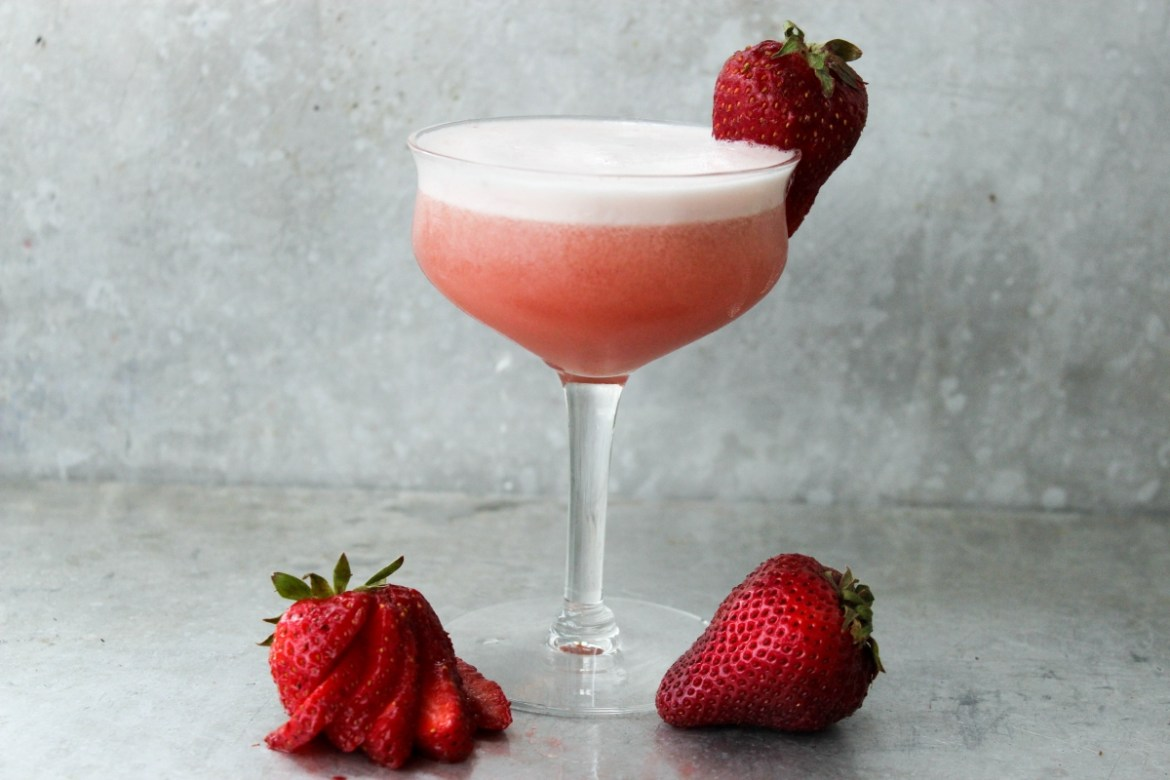 , Strawberry Gin Sour