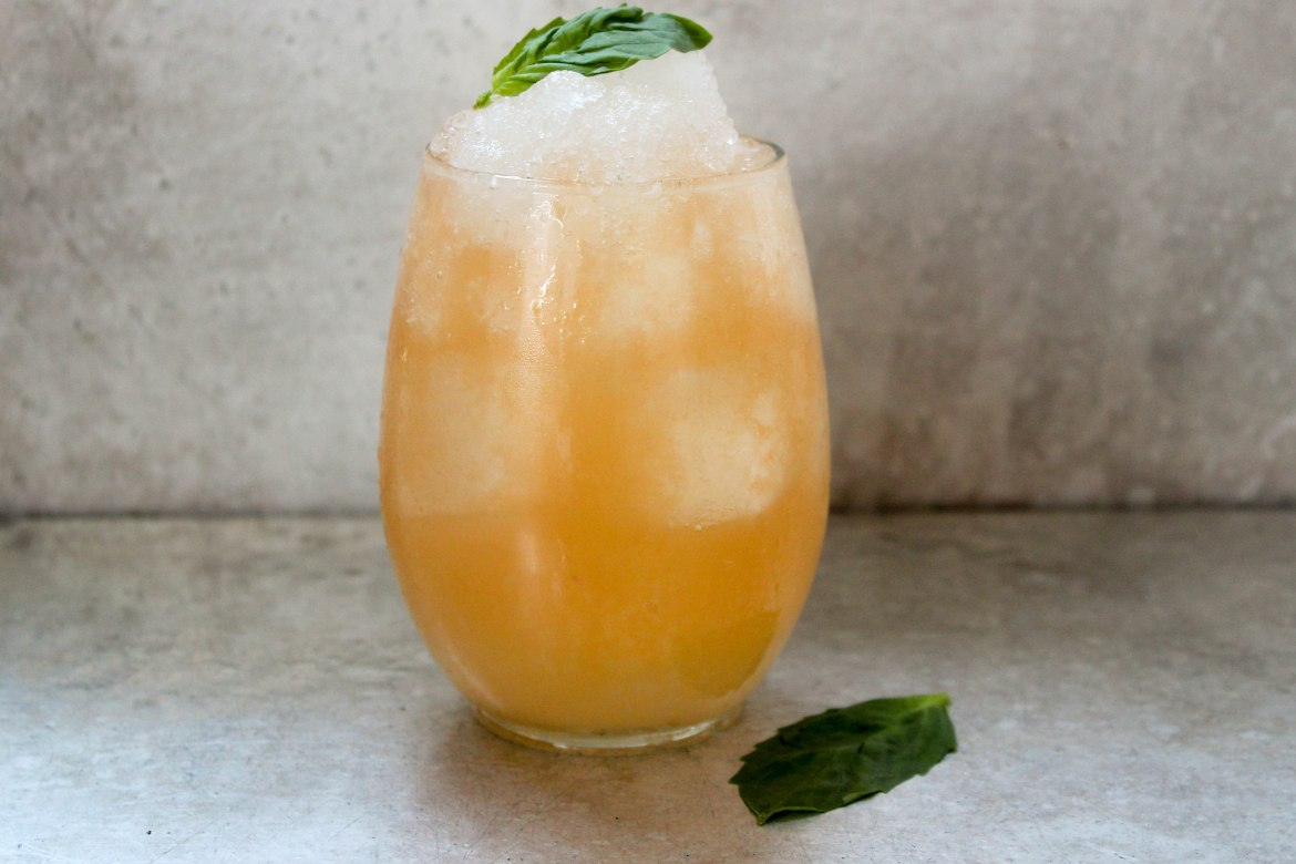 , Basil and Cantaloupe Margarita