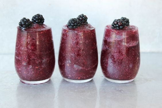 , Blackberry Wine Slushy