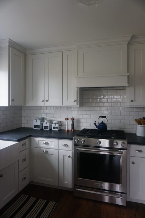 After photo country kitchen renovation
