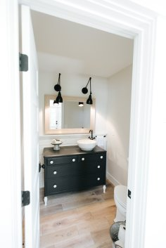 Powder room in Hidden Hillside, renovation in Minnesota